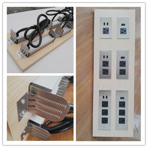 Multifunctional Furniture Power Outlet , Universal AC Desktop Electrical Outlet With USB Port