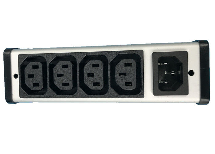 Hardwired Plug In PDU Power Distribution Unit 4 Outlet With IEC Connector Low Profile