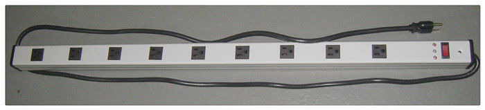 "15A 9 Outlet Slim Plug Power Strip , 36 "" Electrical Power Bar With Surge Protection"
